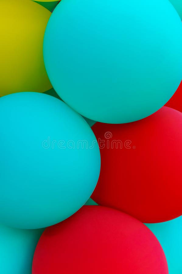 Inflatable balloons close-up. Original background for the holiday royalty free stock images