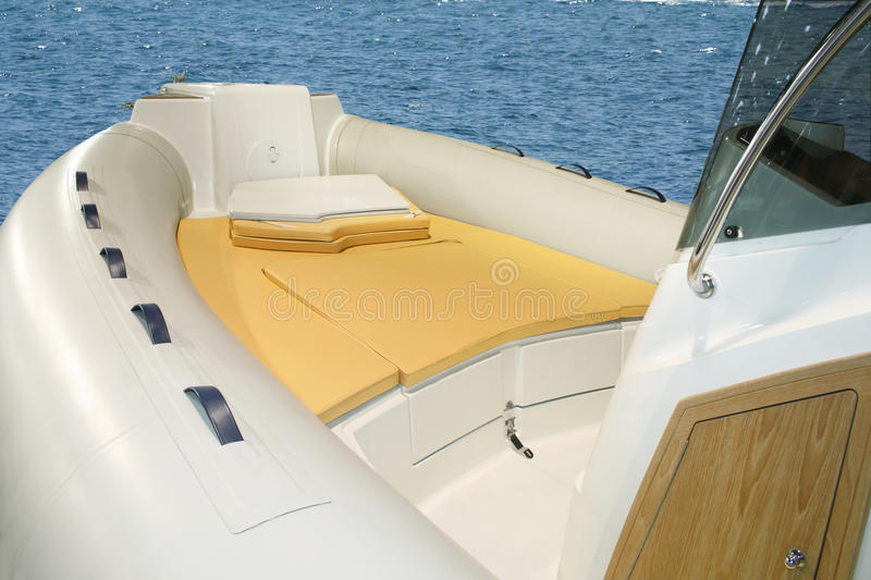 Inflatable boat. On the sea royalty free stock images