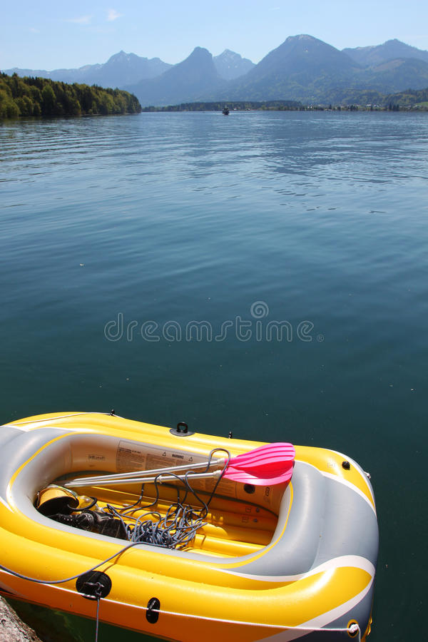 Download Inflatable boat stock image. Image of austria, mountain - 19854953
