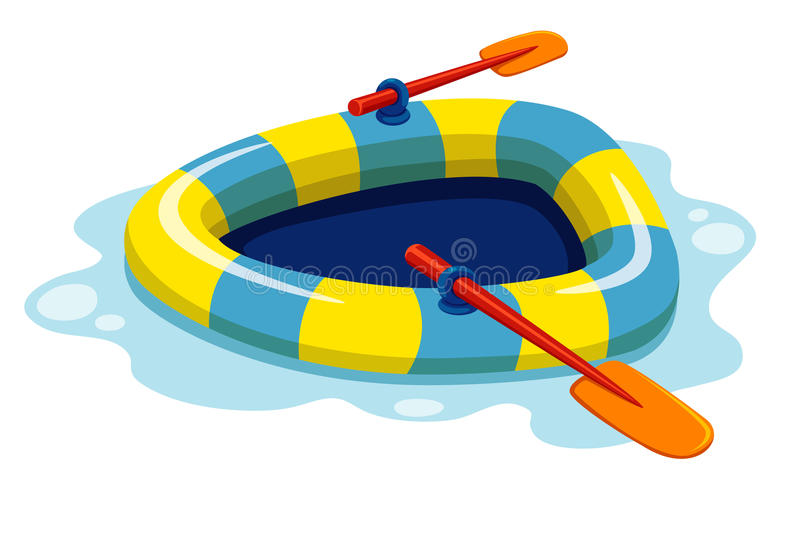 Inflatable boat royalty free illustration