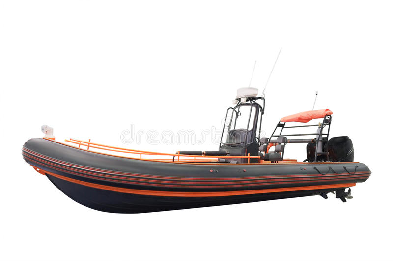 An inflatable boat. The image of an inflatable boat royalty free stock photo