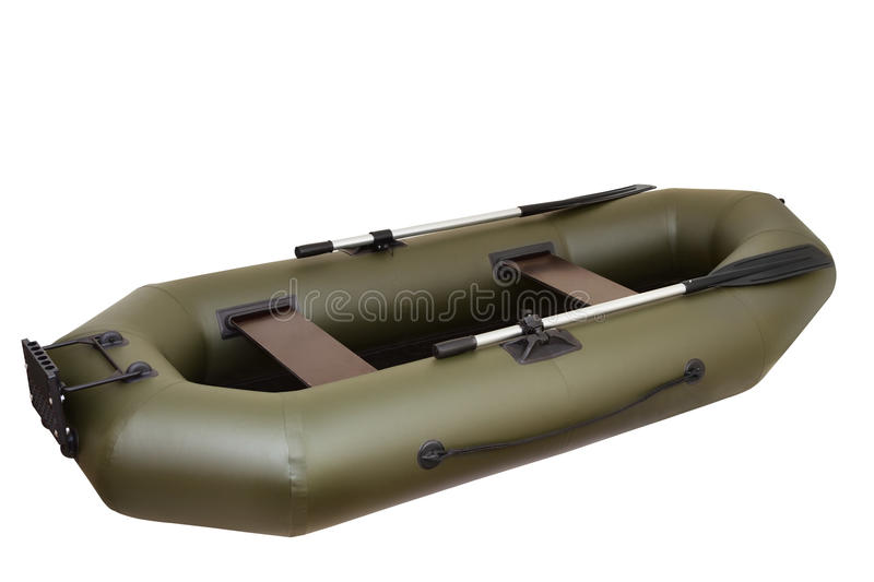 Inflatable boat. Isolated on white background royalty free stock images
