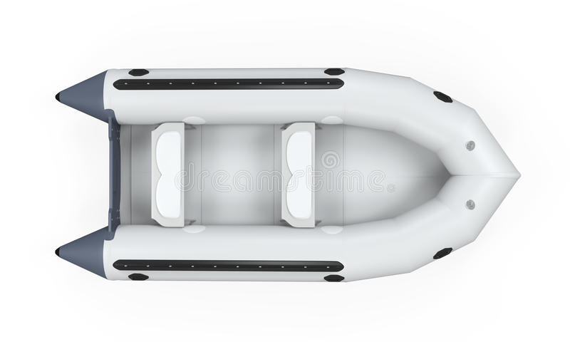 Inflatable Boat. Isolated on white background. 3D render stock photo