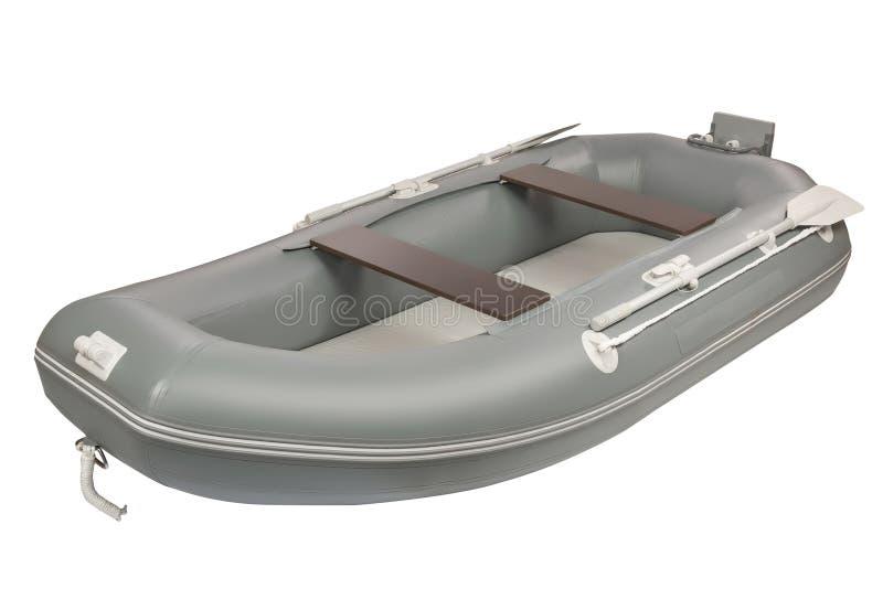 Inflatable boat. Shot isolated on white background royalty free stock photo