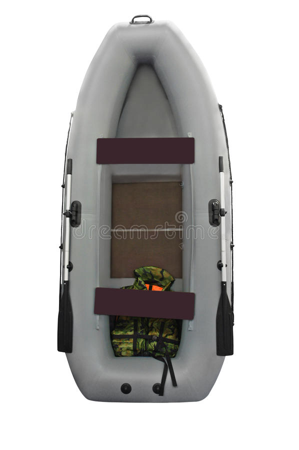Inflatable boat. Under the white background royalty free stock image
