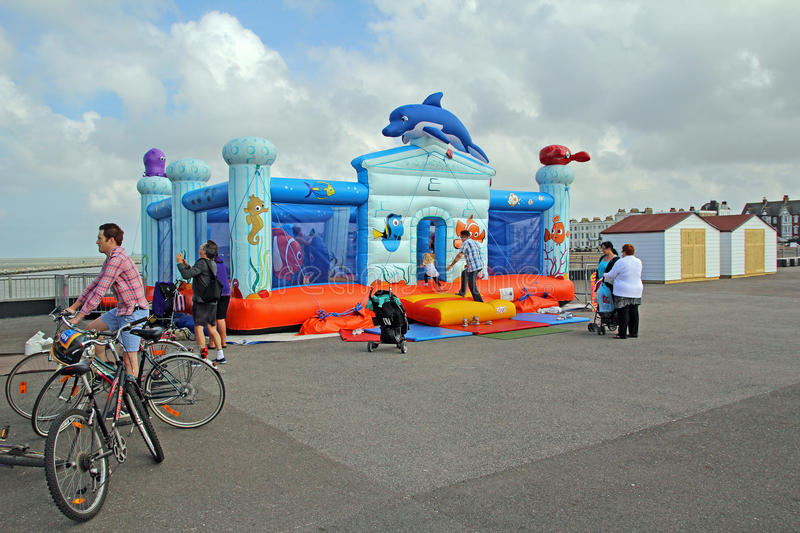 Inflatable bouncy castle funfair royalty free stock image