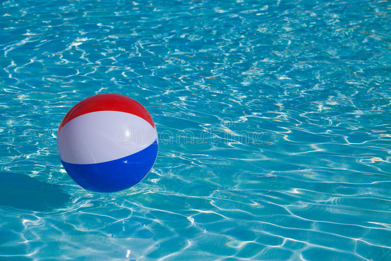 Inflatable colorful ball floating royalty free stock photos