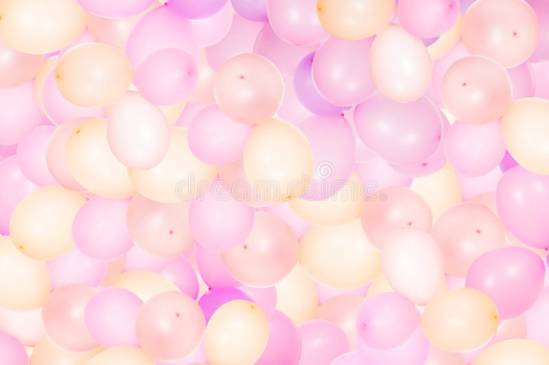 Inflatable helium balloons background. Abstract background with inflatable helium balloons for celebrating party royalty free stock photos