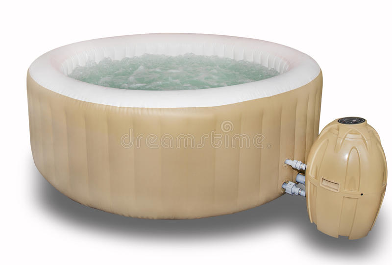 Inflatable Hot Tub, Jacuzzi royalty free stock images