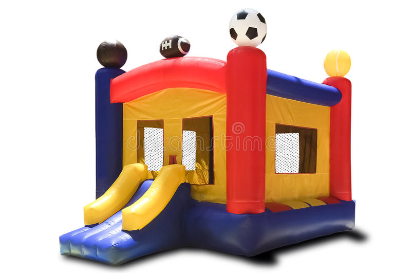 Inflatable children's playground stock images