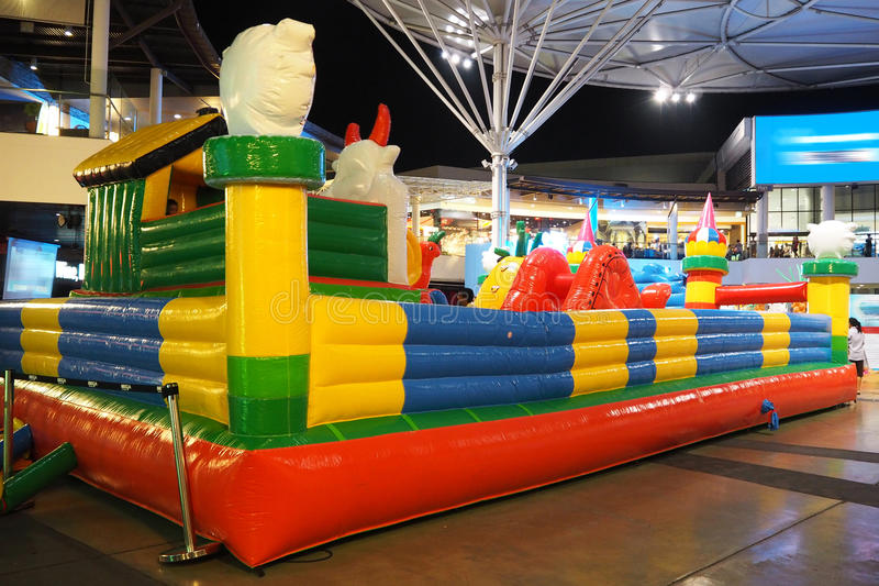 Inflatable playground stock images