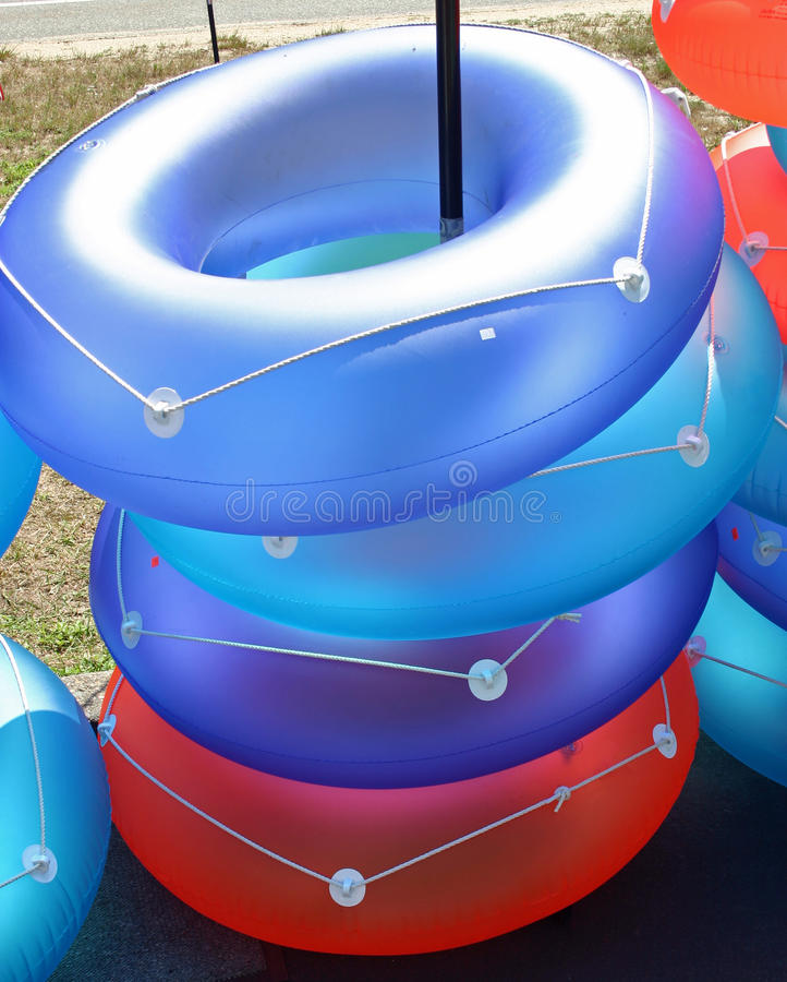 Inflatable Rings royalty free stock photos