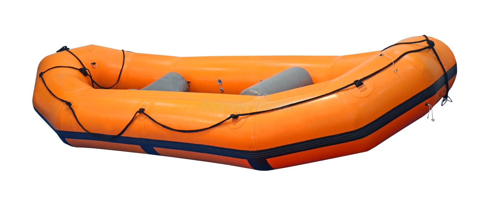 Inflatable rubber boat. Isolated with clipping path included royalty free stock photography