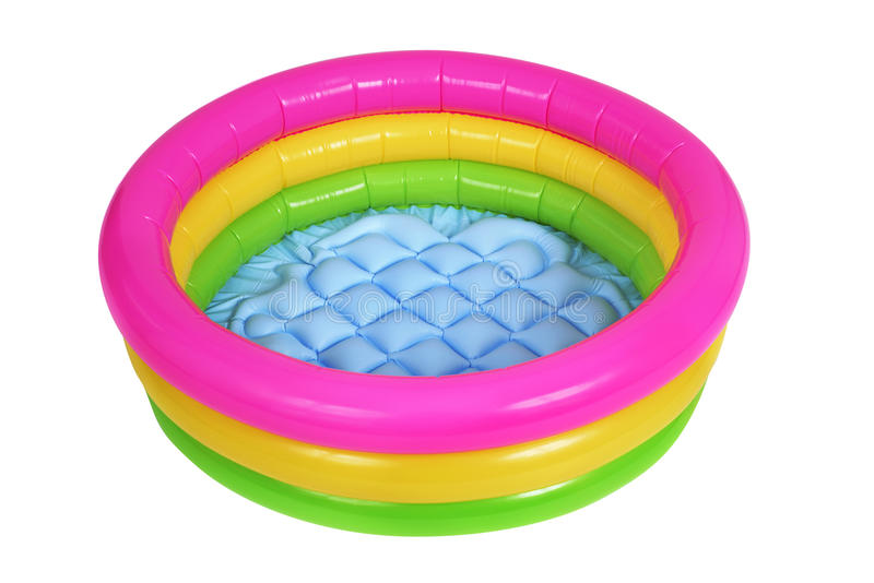 Inflatable swimming pool stock photos
