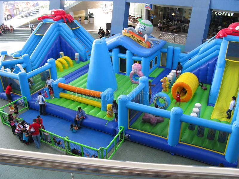 Children`s Kinder Park. An inflated children`s Kinder Park by the main entrance of SM Mall of Asia, Bay City, Pasay, Philippines stock photos