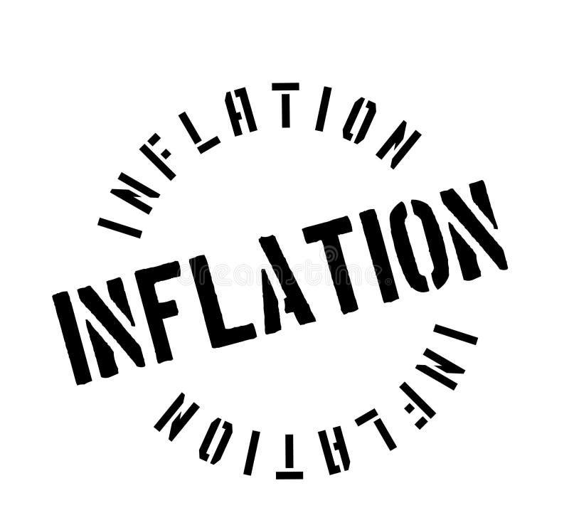 Inflatie rubberzegel stock illustratie