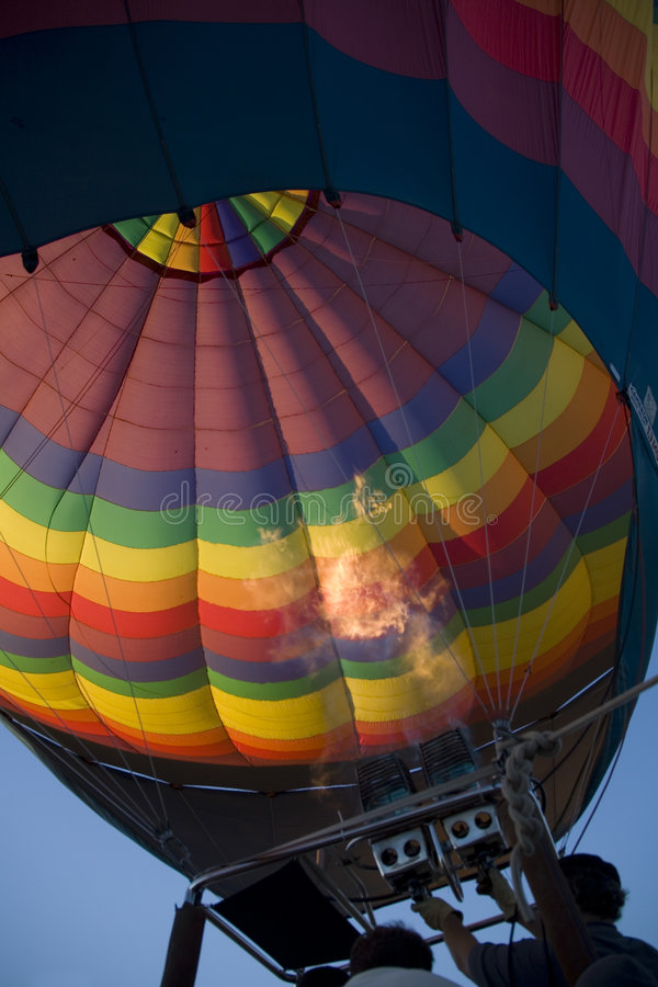 Download Inflating hot-air balloon stock photo. Image of balloon - 1419218