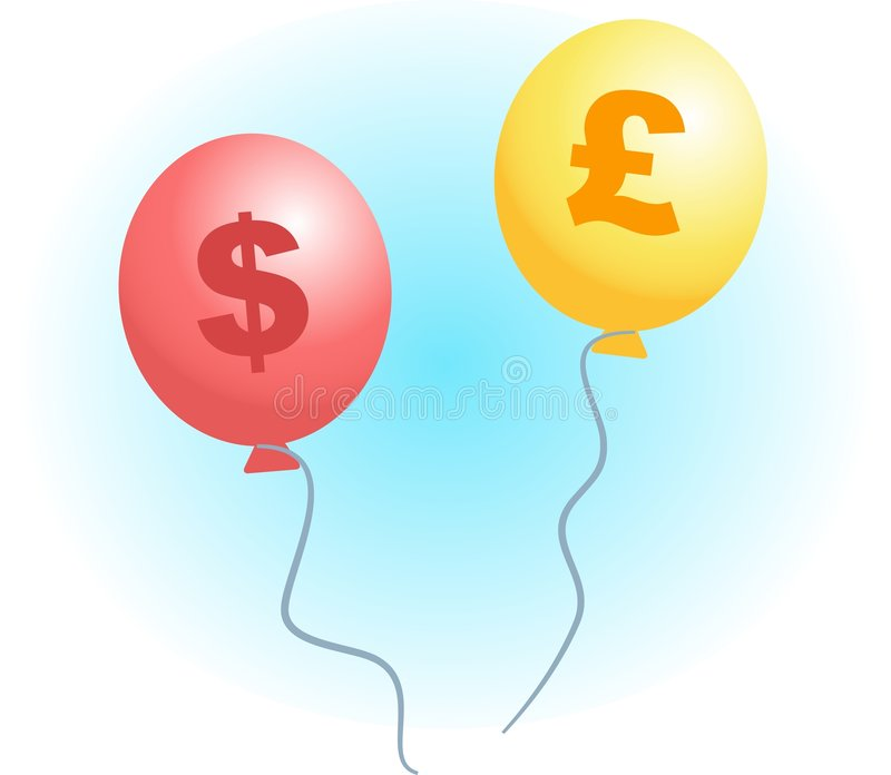 Inflation illustration stock