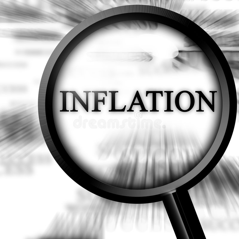 Inflation illustration stock