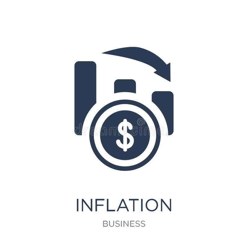 Inflation icon. Trendy flat vector Inflation icon on white background from Business collection vector illustration