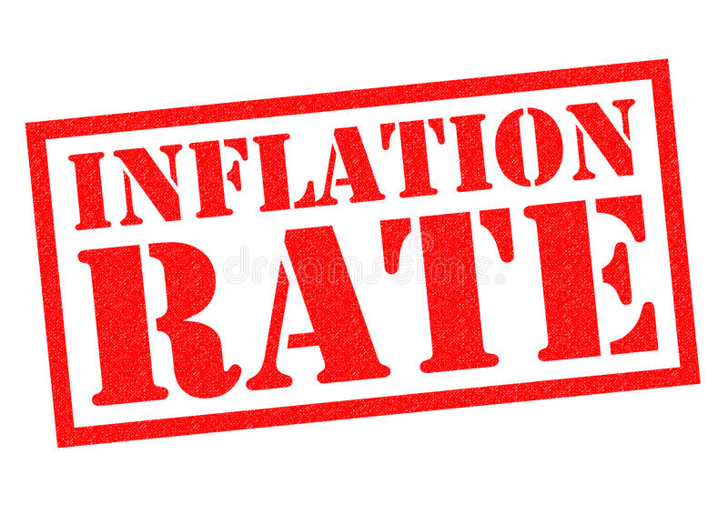 INFLATION RATE royalty free illustration