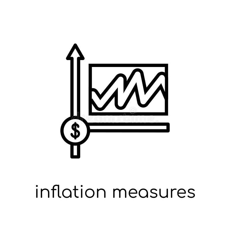 Inflationsmaßnahmen Ikone  stock abbildung