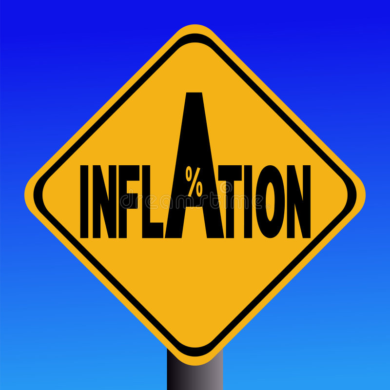 inflationteckenvarning royaltyfri illustrationer