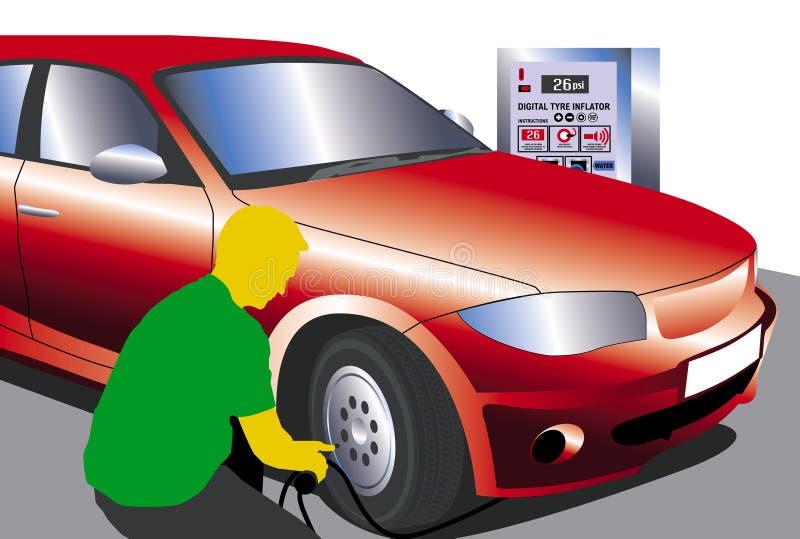 Infle los neumáticos libre illustration