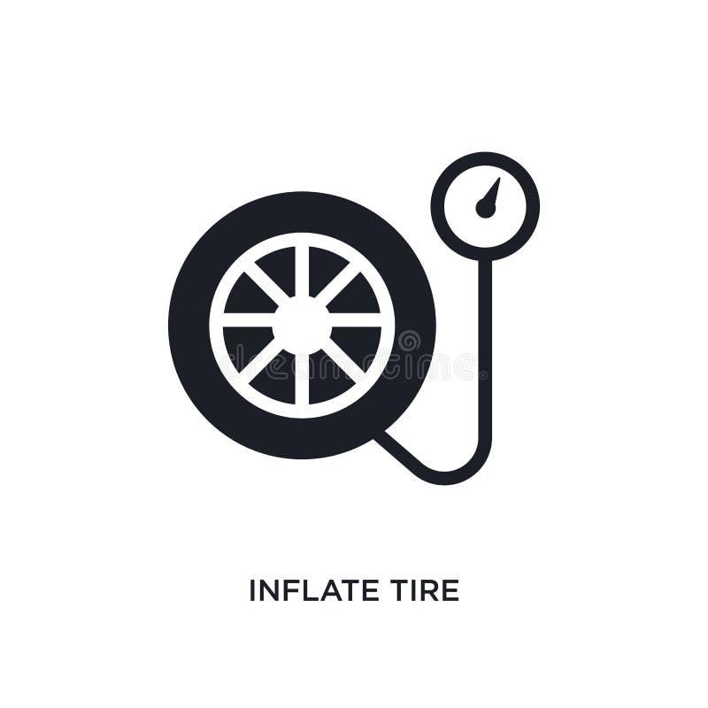infle o ícone isolado pneu ilustração simples do elemento dos ícones do conceito general-1 infle o símbolo editável do sinal do l ilustração do vetor