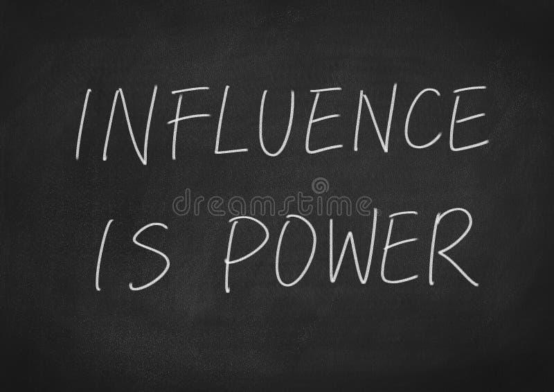 A influência é poder foto de stock royalty free