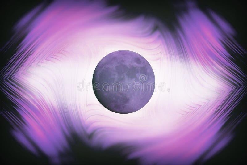 Influence abstraite de planète de lune d'illustration sur le sle de l'homme et de la terre illustration stock