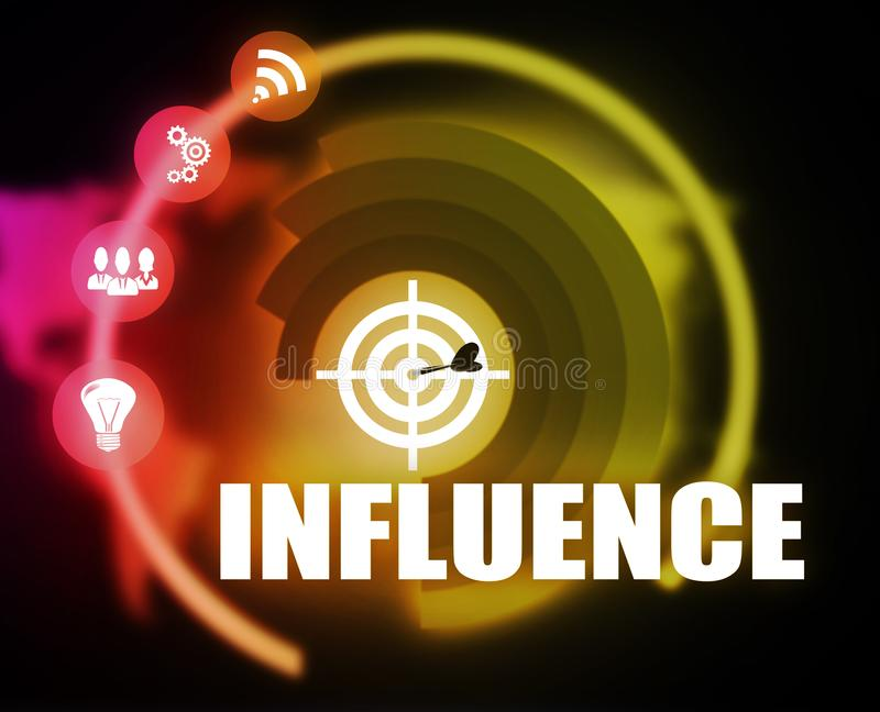 Influence concept plan graphic. 2018 royalty free stock photos