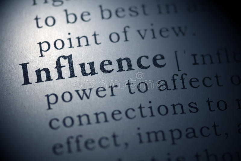 Influence royalty free stock photography