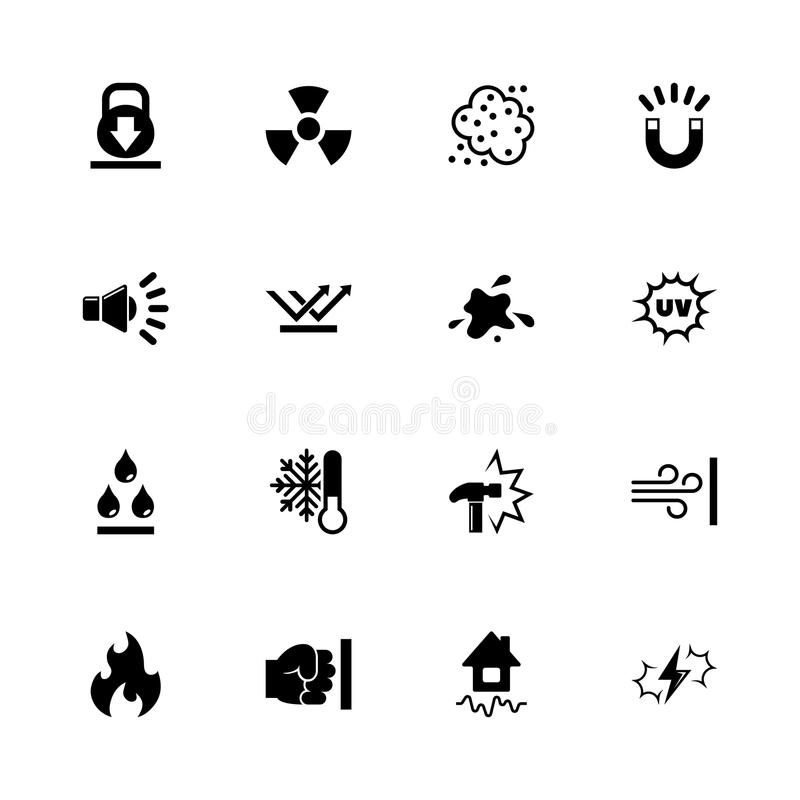 Influence - Flat Vector Icons. Influence icons - Expand to any size - Change to any colour. Flat Vector Icons - Black Illustration on White Background vector illustration