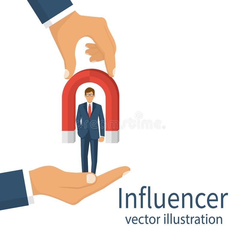 Influencer begreppsvektor stock illustrationer