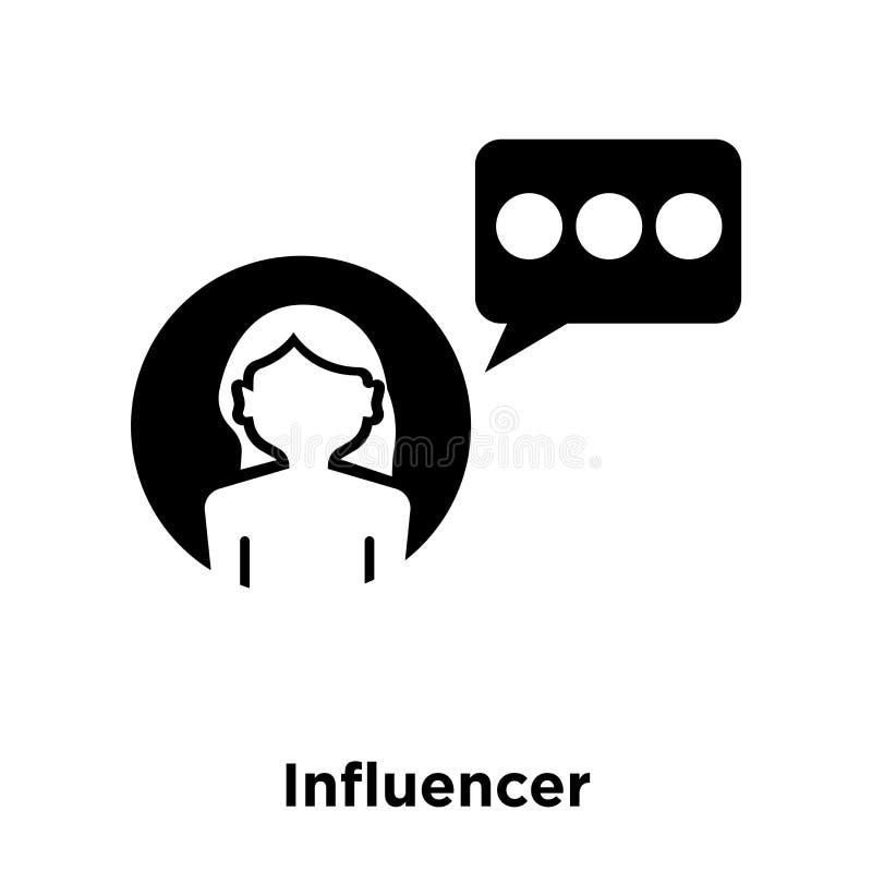 Influencer ikony wektor odizolowywający na białym tle, loga concep royalty ilustracja