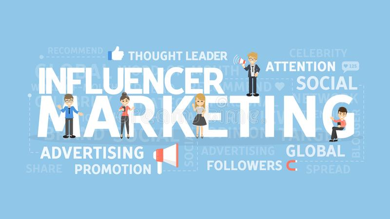 Influencer marketing concept. vector illustration