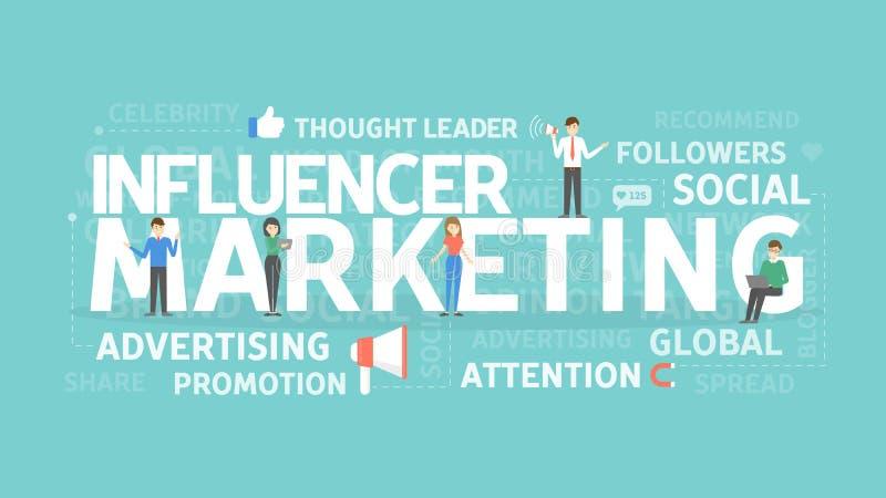 Influencer marketingowy pojęcie ilustracja wektor