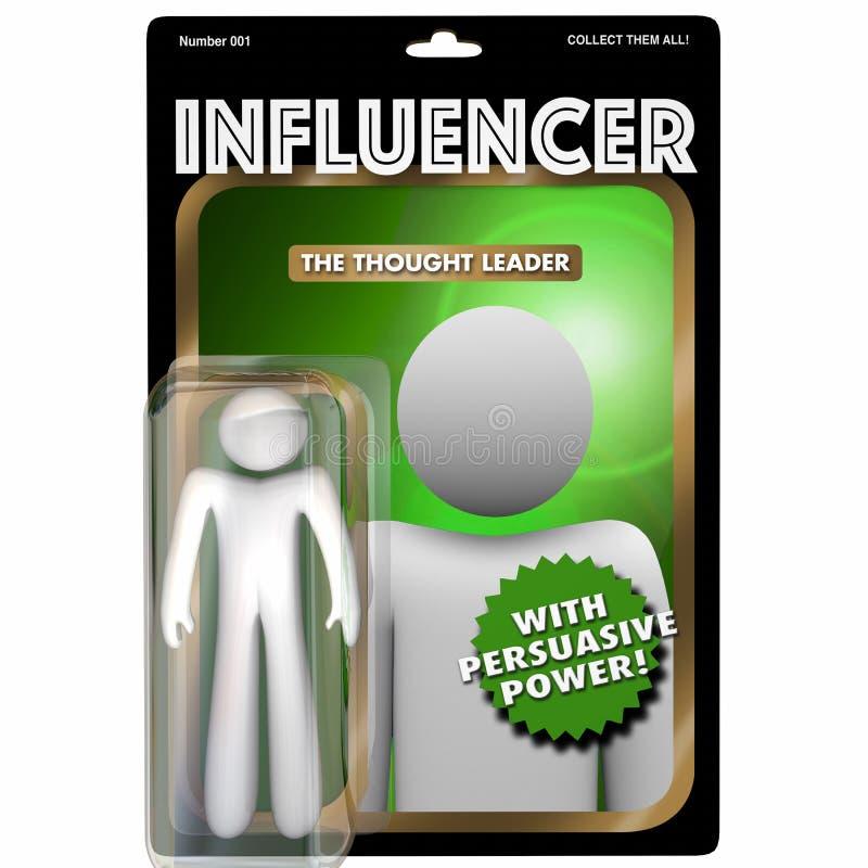 Influencer Person Influential Customer Action Figure 3d Illustra vektor illustrationer