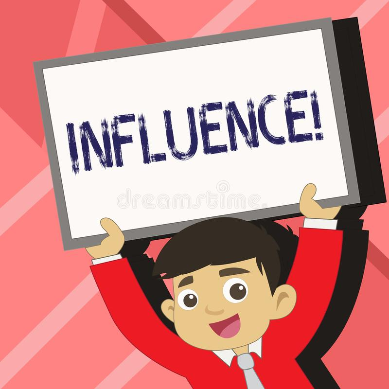 Influencia del texto de la escritura de la palabra Concepto del negocio para que capacidad tenga efecto sobre otros jóvenes del c stock de ilustración