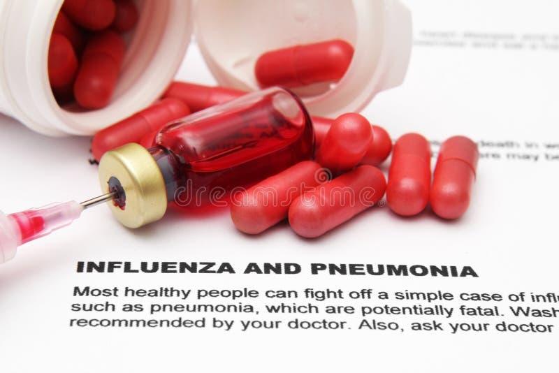 Influensa och pnemonia arkivbilder