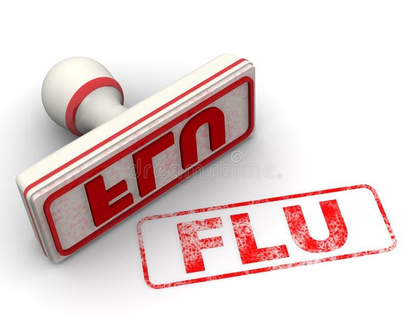 influensa Skyddsremsa och avtryck stock illustrationer