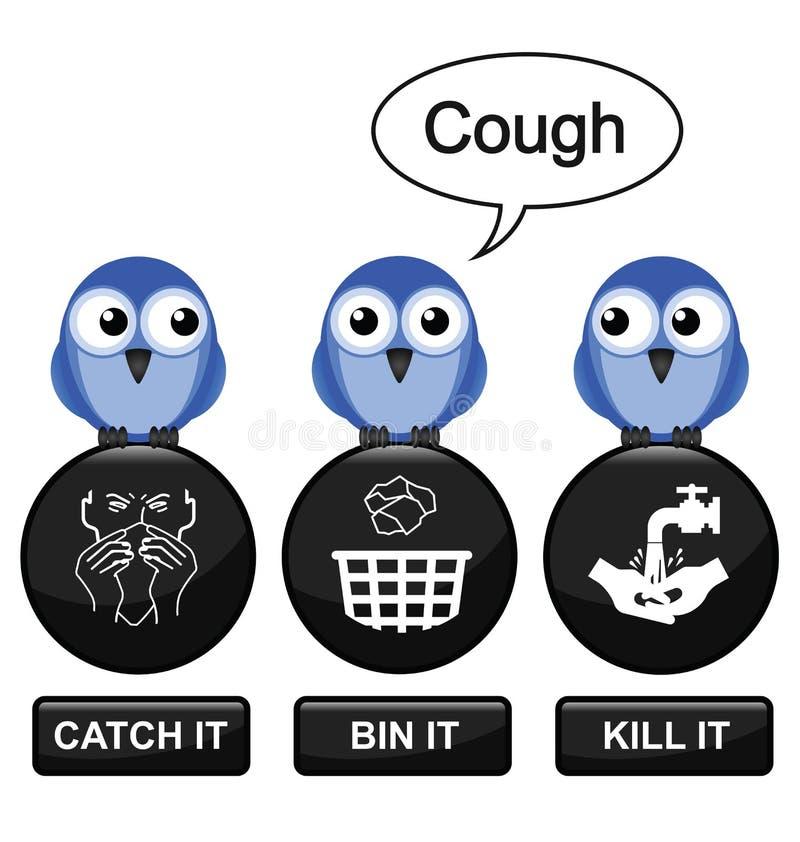 influensaförhindrande royaltyfri illustrationer