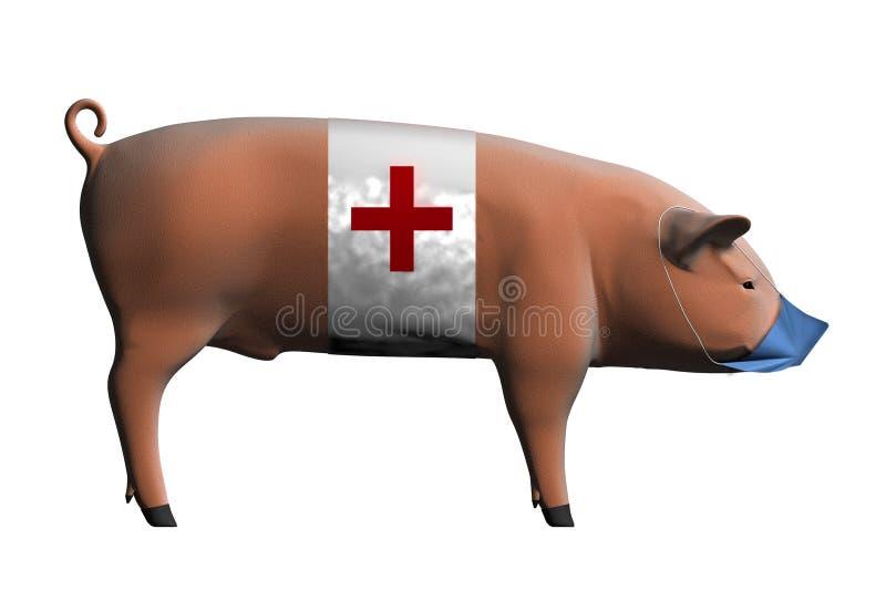 influensaswine stock illustrationer