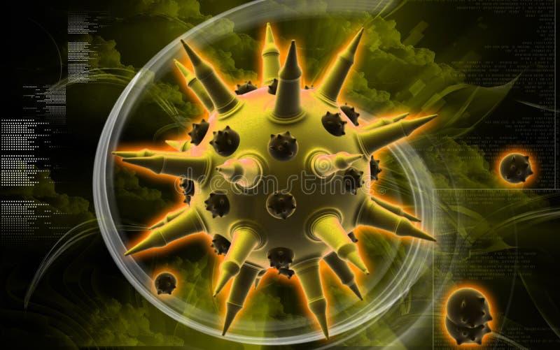 influensavirus royaltyfri illustrationer