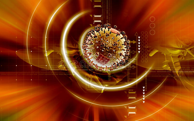 Download Influenza virus stock illustration. Image of disease - 21840254