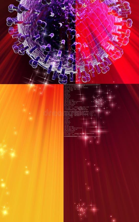 Download Influenza virus stock illustration. Image of render, background - 21840517
