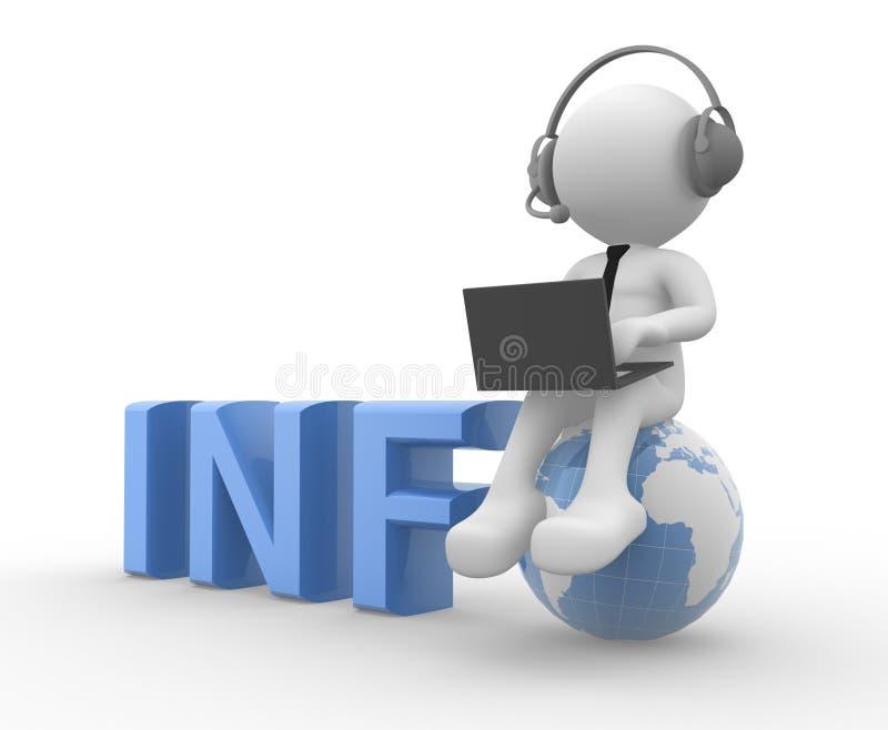 Info stock illustratie