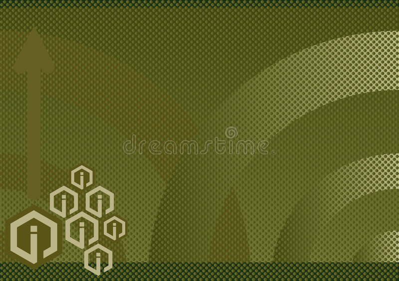 Info abstract background. Illustration of an information abstract background in olive royalty free illustration
