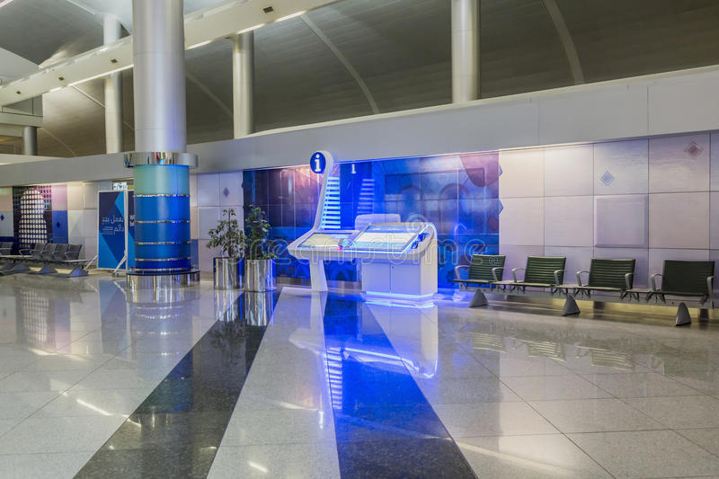 Info centre in Dubai International Airport, UAE. It's world largest building by floor space and world lar royalty free stock photos